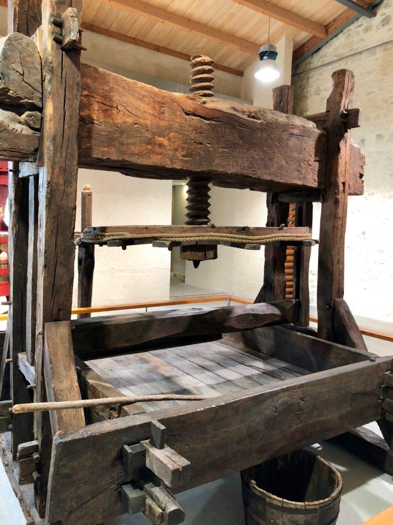 Ancient machine in the art museum of Cognac