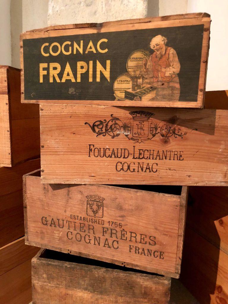 Cases of cognac at the Cognac Art Museum