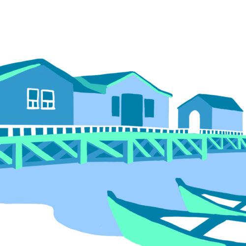 Illustration du Port des Salines, île d'Oléron