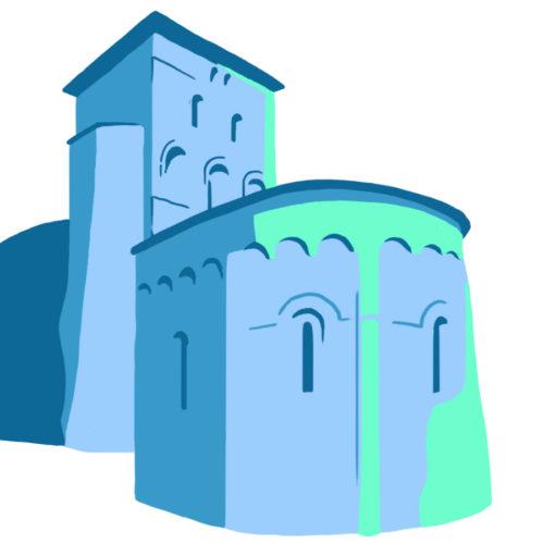 Illustration de l'Abbaye aux dames à Saintes