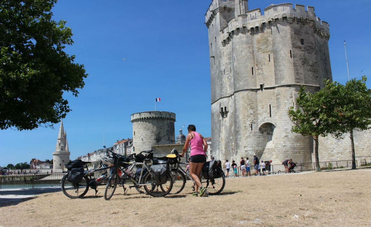 the Vélodyssée cycle route in Charentes - La Rochelle