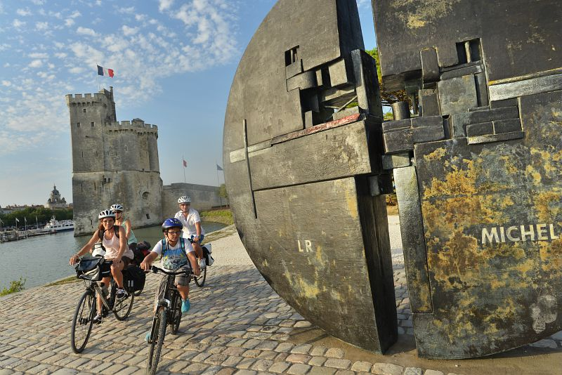 Velofrancette arrival in La Rochelle