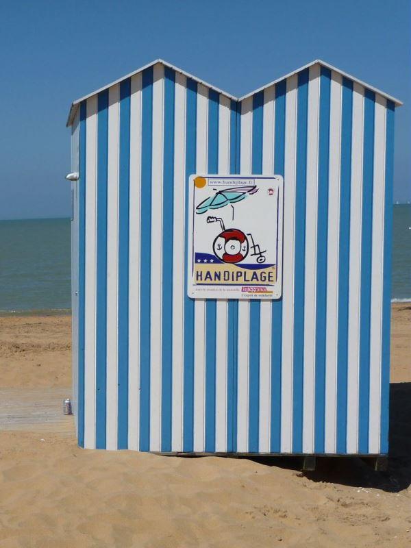 handi beach in France